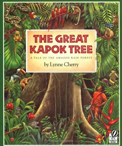 The Great Kapok Tree, part of book review list of jungle and rainforest books