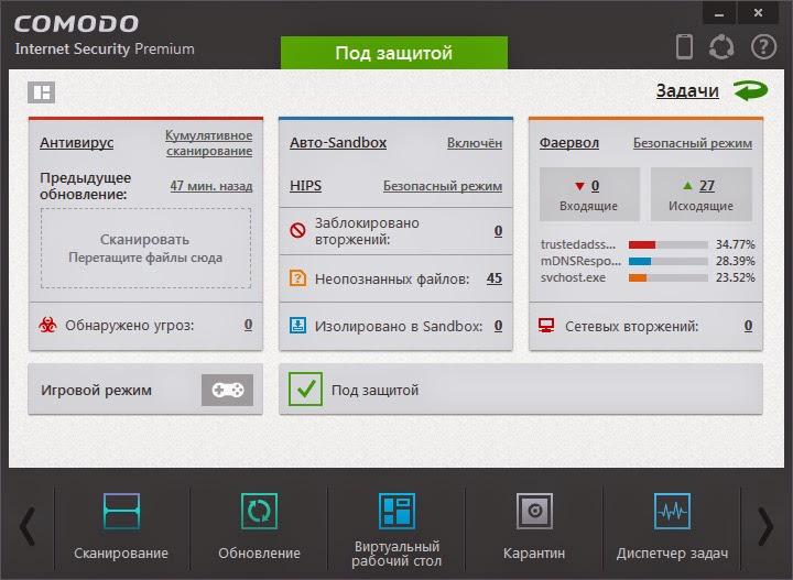 Обзор антивируса Comodo 8.0.0.4337.