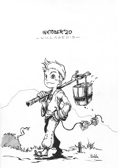 inktober fabrique character bd by lePueblo young villager boy