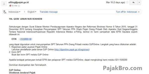 DJP Online: PNS Tidak Perlu Permohonan e-FIN