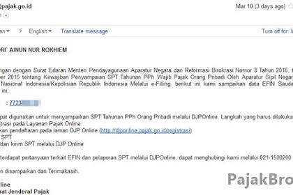 DJP Online | PNS Tidak Perlu Permohonan e-FIN