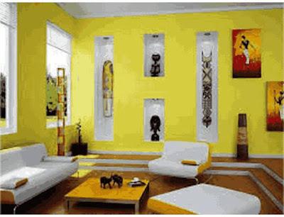 warna cat rumah yang cerah bagian dalam