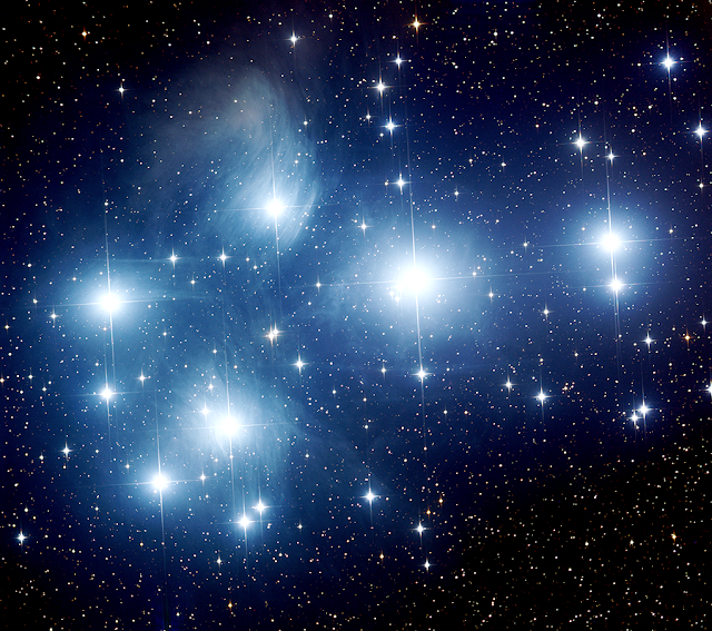 M45 - The Pleiades (the Seven Sisters) - Image by Insight Observatory.