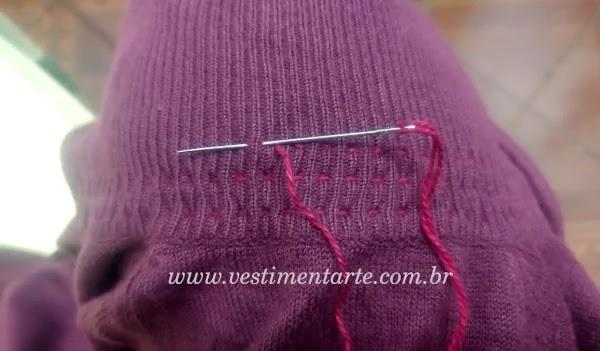 como ajustar casaco de trico