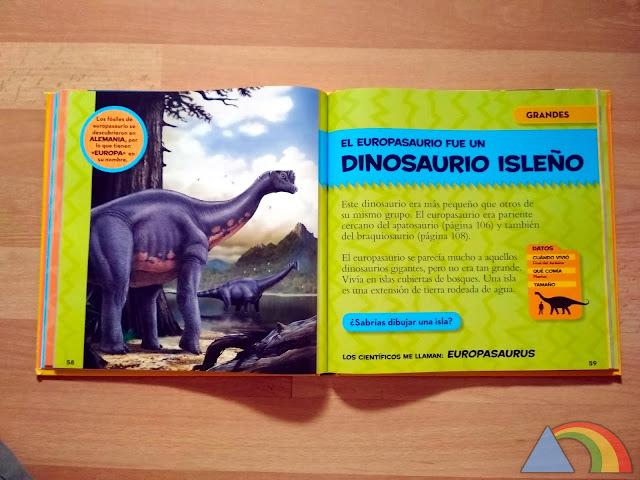 Interior del libro Mi primer gran libro de los dinosaurios de National Geographic