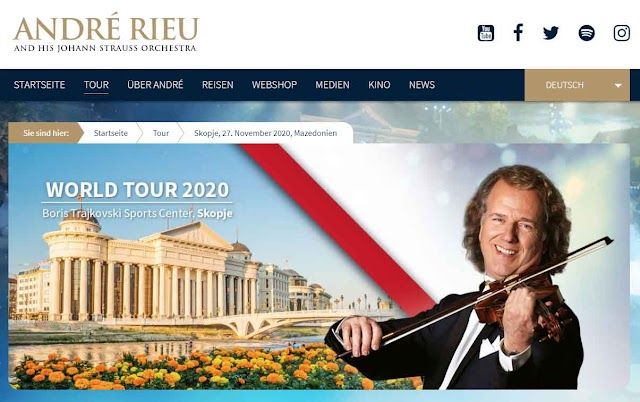 André Rieu returns to Skopje in November