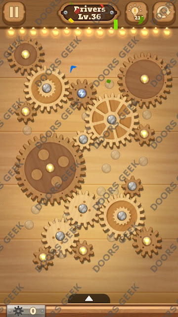 Fix it: Gear Puzzle [Drivers] Level 36 Solution, Cheats, Walkthrough for Android, iPhone, iPad and iPod