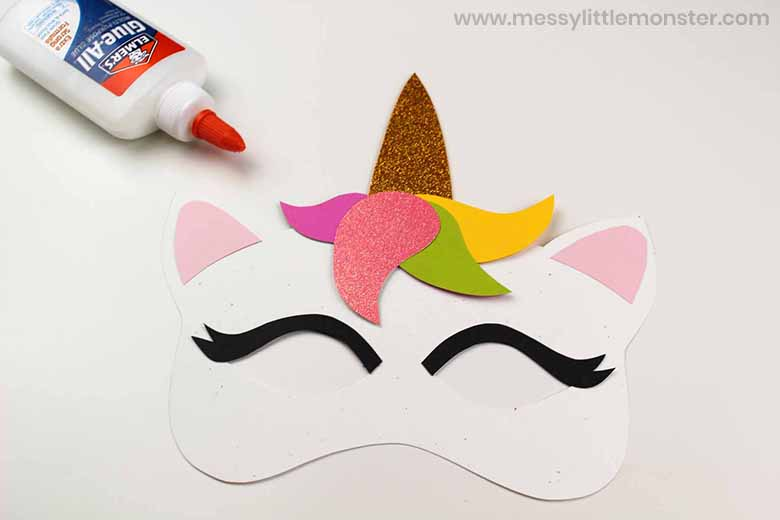easy unicorn mask craft for kids