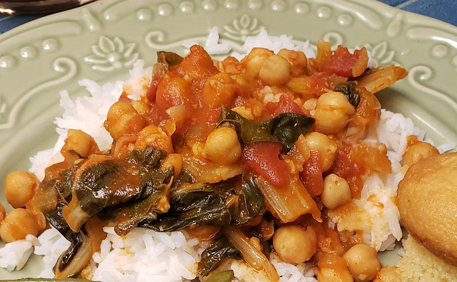 chickpea swiss chard stew recipe