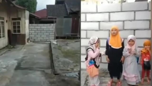 Viral Akses Jalan ke Rumah Suhartini Ditembok Tetangganya