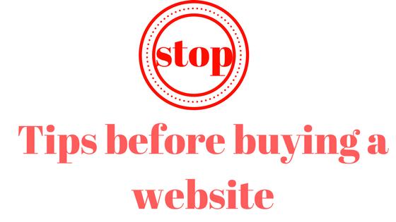 خطوات يجب ان تقوم بها قبل شراء اي موقع الكتروني