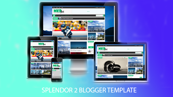 Splendor 2 Premium Blogger Template Download - Responsive Blogger Template