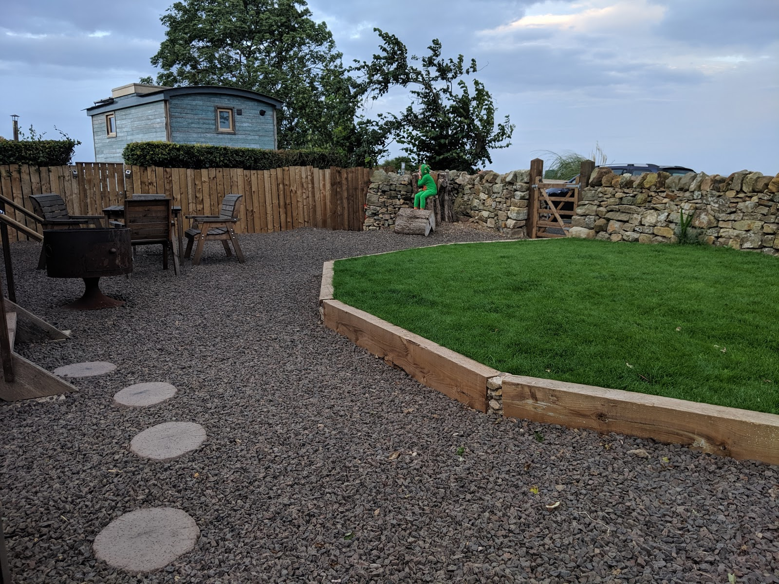 Shepherd's Retreats Beadnell Review - Dog-friendly Glamping in Northumberland - enclosed garden