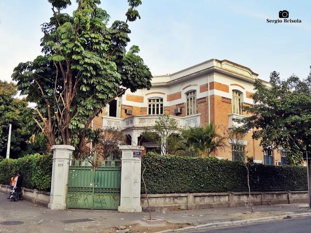 Vista ampla da Sede das Industrias Reunidas Francesco Matarazzo - Brás - São Paulo