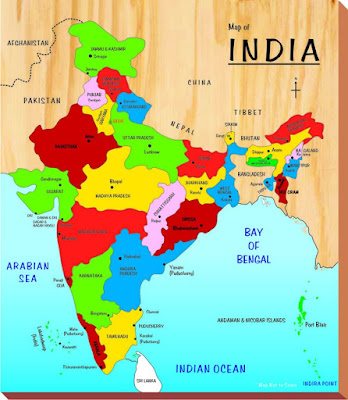 India Map With All States Spiritual Tourism - Map of all states