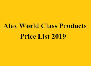 Alex World Class Products Price List