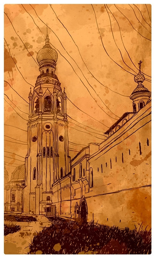 08-Evgeniy-Rodionov-Евгений-Родионов-Architectural-Drawings-with-a-Striking-Background-www-designstack-co