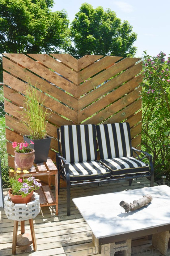 How to Build a Simple Chevron Outdoor Wall