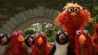 Murray presents the game Guess what next. Sesame Street Episode 4413 Big Bird's Nest Sale season 44