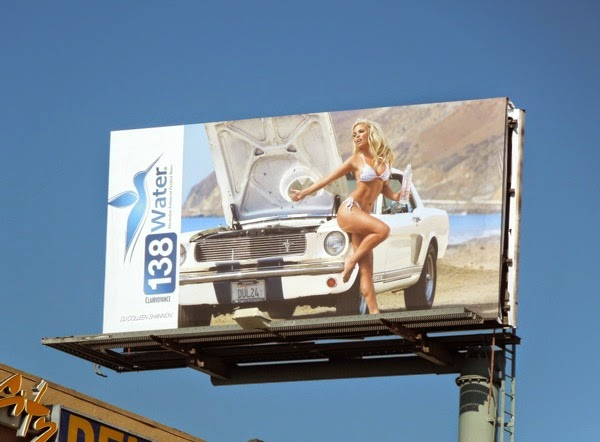 138 Water DJ Colleen Shannon bikini billboard