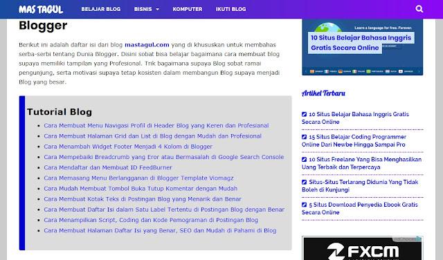 Cara Membuat SITEMAP Blog Per Label Terbaru Dengan Mudah dan Terlihat Rapi