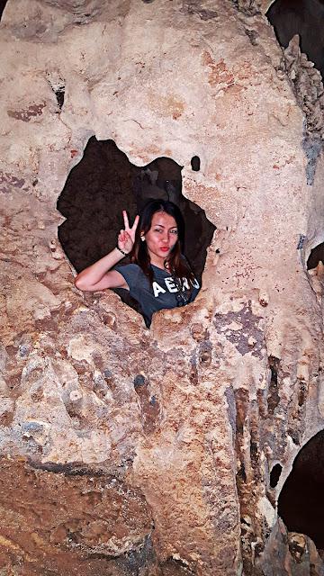 frame inside a cave