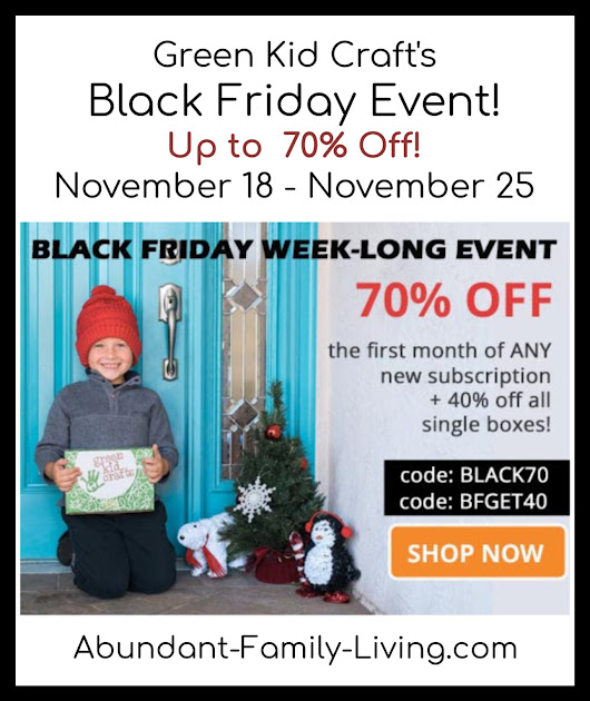 GREEN KID CRAFTS BLACK FRIDAY EVENT - UP TO 70% OFF FROM 11/18-11/25!
