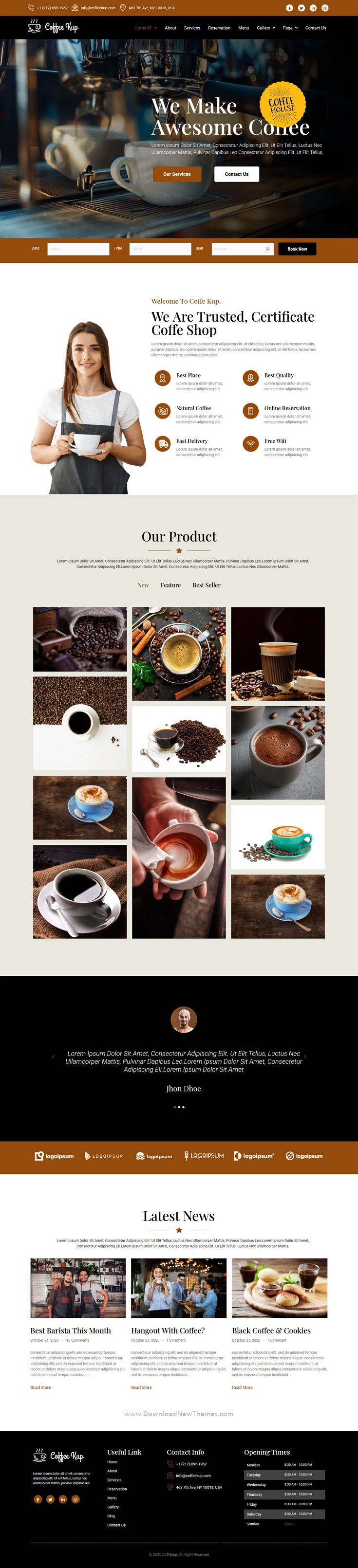 Cafe & Coffee Shop Elementor Template Kit