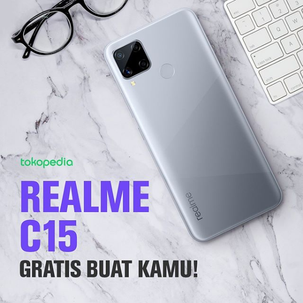 Giveaway Indonesia HP Realme C15 [ENDED]