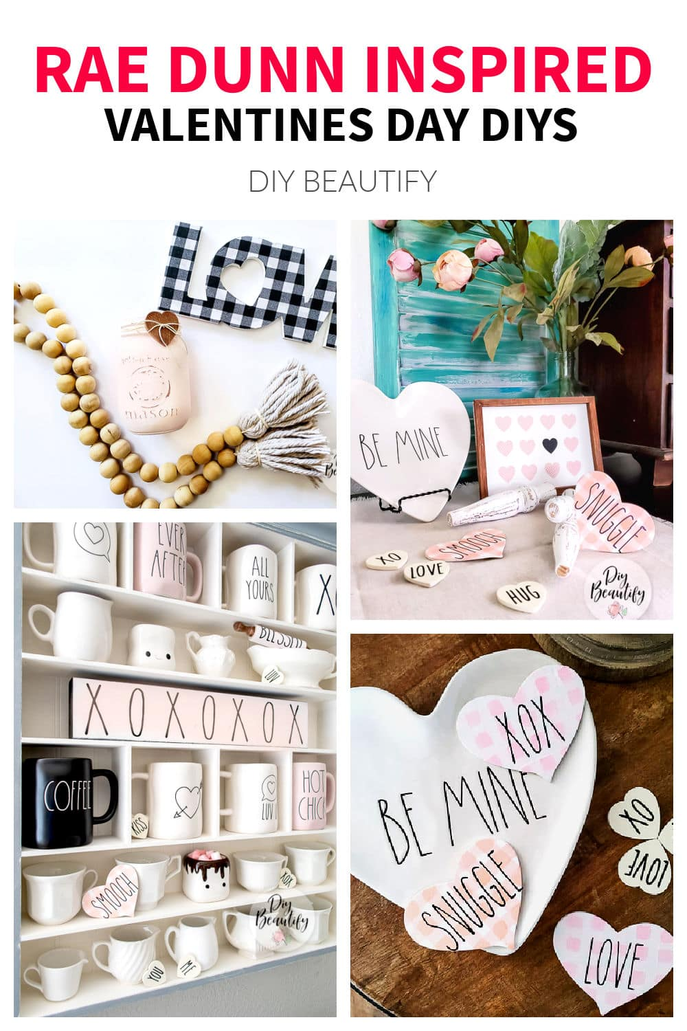Rae Dunn inspired Valentines Day DIY projects