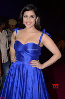Mannara Chopra in Deep Neck Blue Gown at Zee Telugu Apsara Awards ~  Exclusive 038.jpg