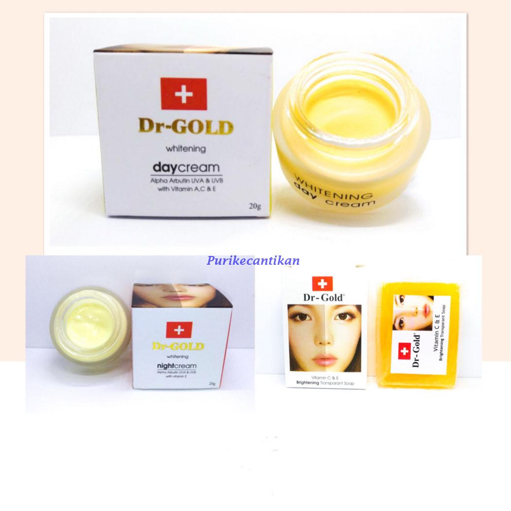 Dr Gold Cream Pemutih Wajah Dan Sabun Wajah Original