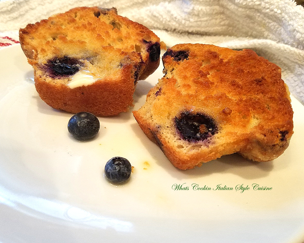 these are grilled blueberry  muffins slathered with butter and loaded with blueber The muffins are toasted and grilled with a rich butter grilling on top   These are grilling muffins I had first time in Utica, Upstate New York at J.M. Fields.