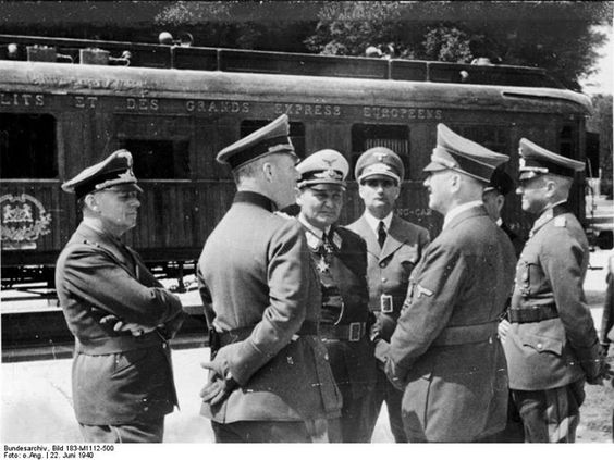 22 June 1940 worldwartwo.filminspector.com Hitler Compiegne Armistice France