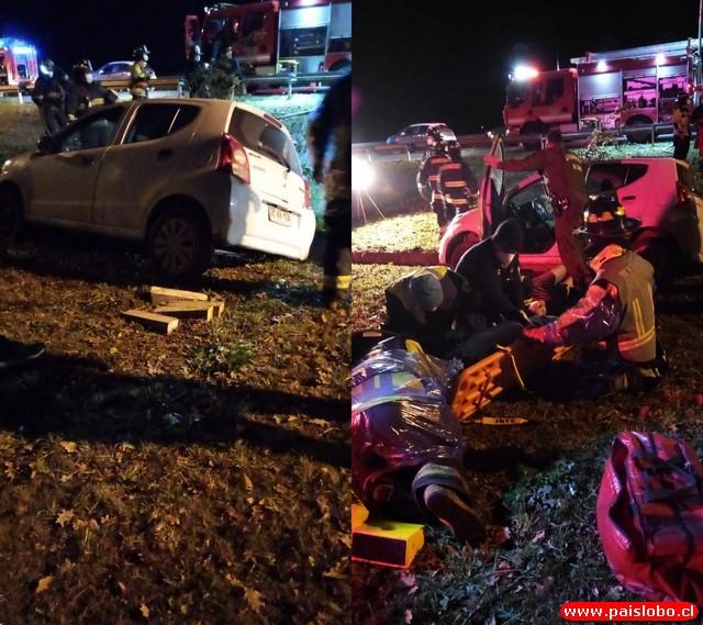 Osorno: Accidente de tránsito en la Ruta 215