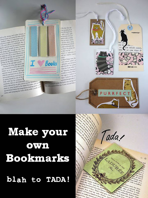 Make Your Own Bookmarks, DIY bookmarks