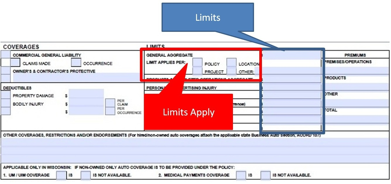 Simply Easier Acord Forms How To Complete The Acord 126 Limits Section