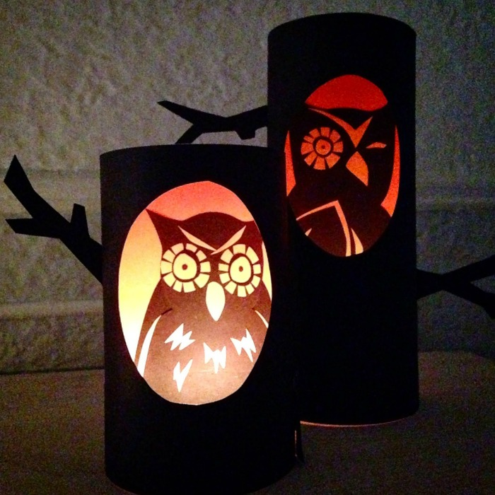 How to make glowing owl candles for Halloween