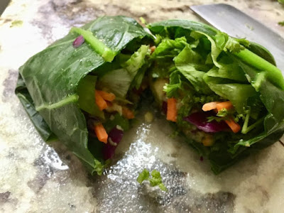 vegan collard green wrap