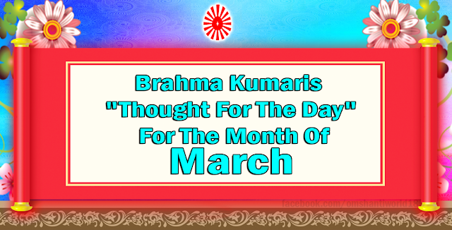 Thought For The Day for the Month of March