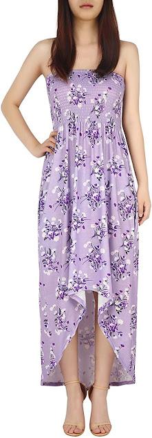 Best Quality Purple Strapless Maxi Dress