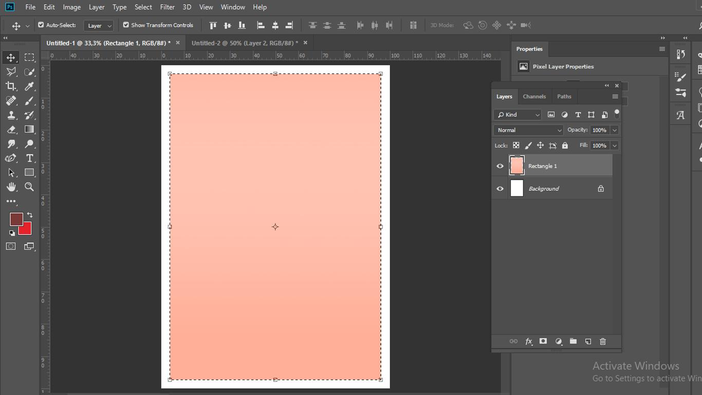 Buat gradient warna pada layer
