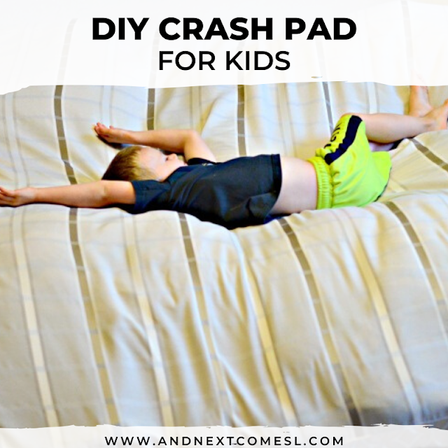 Homemade crash pad for kids: an easy tutorial for how to make your own crash mat