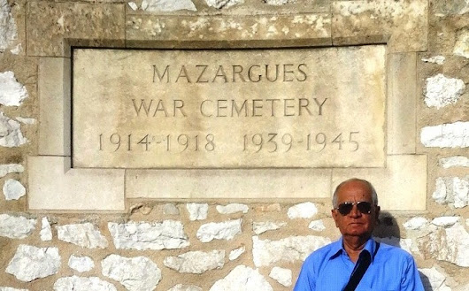 Visit of homage to Mazargues War Cemetery, Marseilles, France - by K.J.S.Chatrath