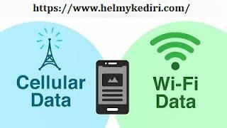 Matikan data seluler atau wifi