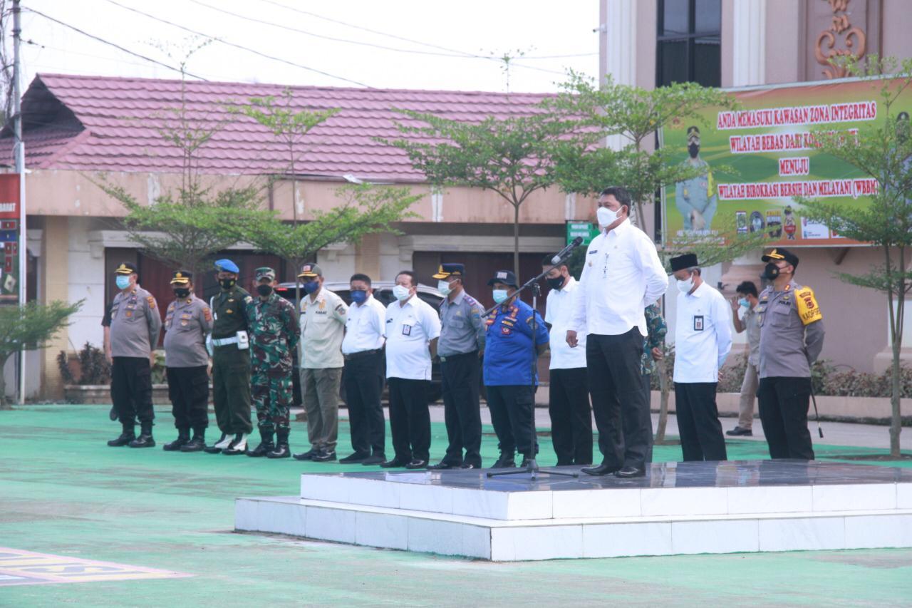 Wabup Tanjabbar Hadiri Apel Gelar Pasukan Pengaman MTQ Ke-50 Jambi