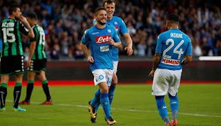 Napoli Bantai Sassuolo 3-1