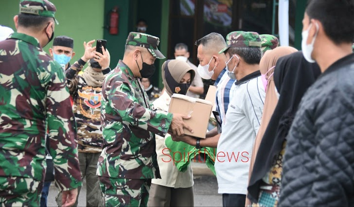 Danrem 141/Tp, Hadiri Semarak Rangkaian HUT TNI ke 76 Tahun 2021