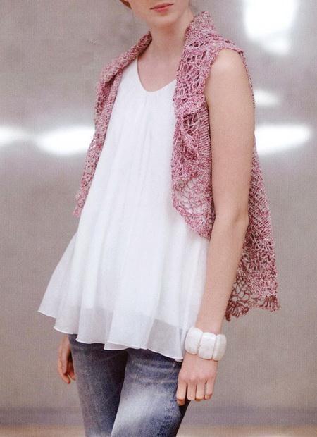 Crochet Circle Vest, Easy - Front