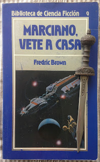 Portada del libro Marciano, vete a casa, de Fredric Brown
